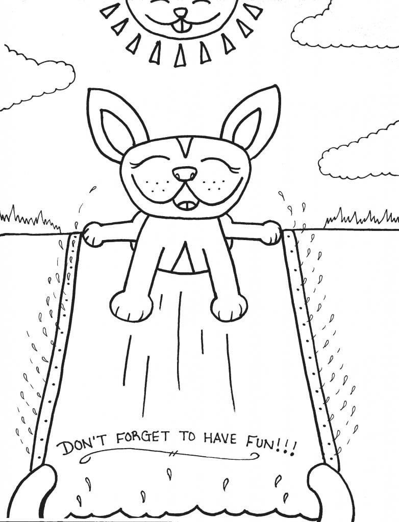 Puppy Coloring Page - Dont Forget To Have Fun