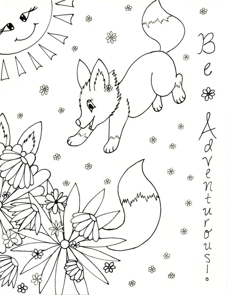 Spring Coloring Page - Be Adventurous