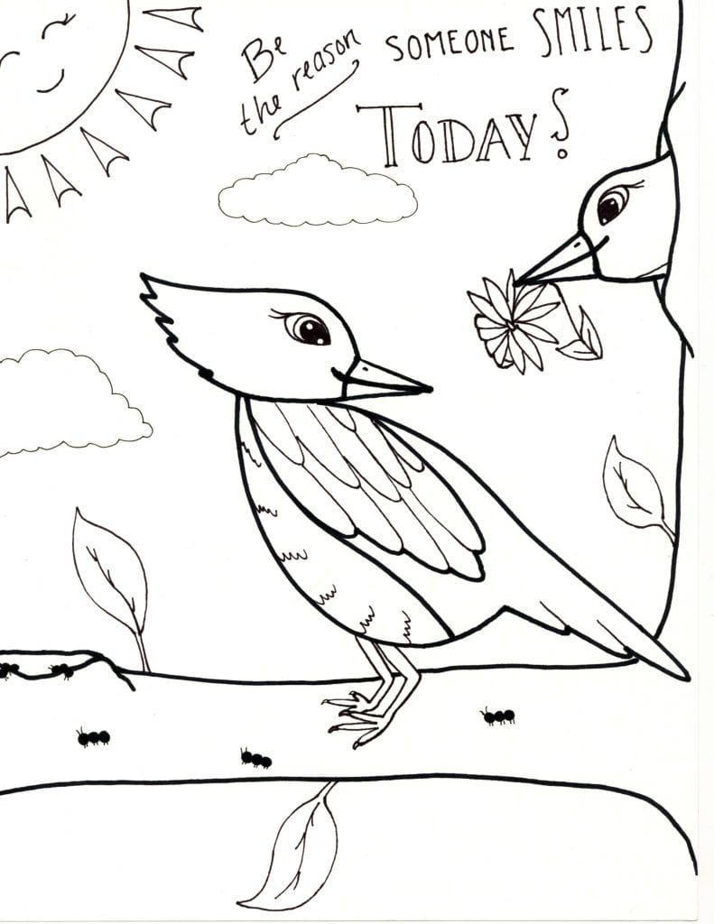 Spring Coloring Page - Be The Reason
